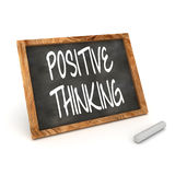 Blackboard Positive Thinking Royalty Free Stock Photography