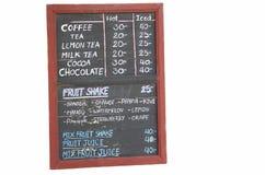Blackboard price isolated Stock Image