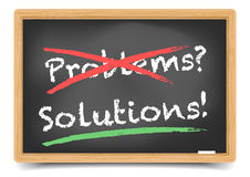 Blackboard Problems Solution Stock Images