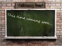 blackboard pustego miejsca zieleń Zdjęcie Royalty Free