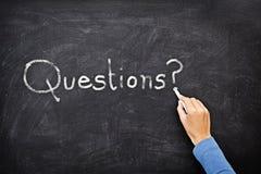 blackboard pytania Zdjęcia Royalty Free