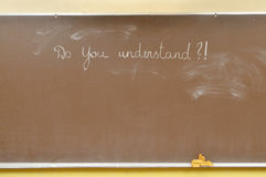 Blackboard with question Stock Photography