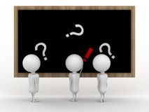 Blackboard and Question mark Stock Photography