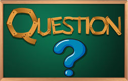 A blackboard with a question mark Royalty Free Stock Images