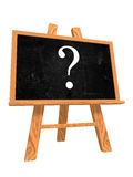 Blackboard with question sign Royalty Free Stock Photo