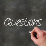 Blackboard Questions Stock Photography
