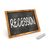Blackboard Recession Royalty Free Stock Photo