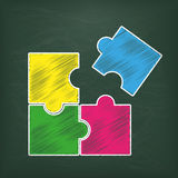 Blackboard Rectangle Puzzle Stock Photos