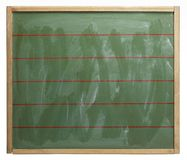 Blackboard with red lines Royalty Free Stock Image