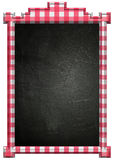 Blackboard with red and white frame Royalty Free Stock Photos