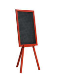 Blackboard in red wood frame on white. Blackboard in red wood frame isolated on white Royalty Free Stock Photography