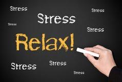 blackboard relaksuje stres Obraz Stock