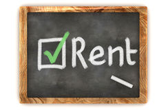 Blackboard Rent Royalty Free Stock Image