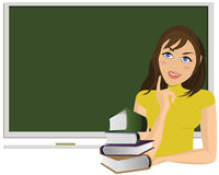 blackboard rezerwuje kobiet potomstwa Fotografia Royalty Free