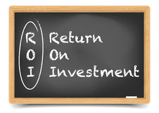 Blackboard ROI Stock Photography