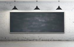 Blackboard in room Stock Photo