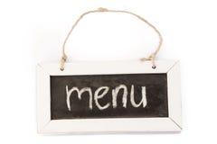 Blackboard on rope, menu Stock Photos