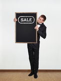 Blackboard with sale Stock Image