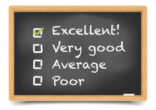 Blackboard Satisfaction Survey Royalty Free Stock Photo
