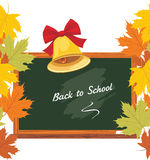 Blackboard and school bell. Back to school Royalty Free Stock Photography