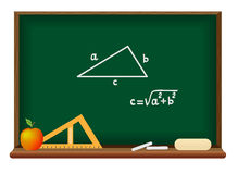 Blackboard. School geometry Stock Photos