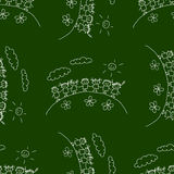 Blackboard. School. Seamless  pattern Royalty Free Stock Photos