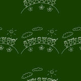 Blackboard. School. Seamless  pattern Royalty Free Stock Images