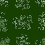 Blackboard. School. Seamless  pattern Stock Images