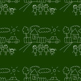 Blackboard. School. Seamless  pattern Royalty Free Stock Image