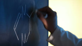 Blackboard stock video