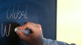 Blackboard stock video footage