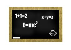 Blackboard with scribbles Royalty Free Stock Photos