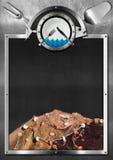 Blackboard for Seafood Menu Royalty Free Stock Photos