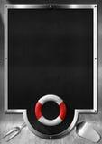 Blackboard for Seafood Menu Stock Images