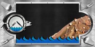 Blackboard for Seafood Menu Royalty Free Stock Photo