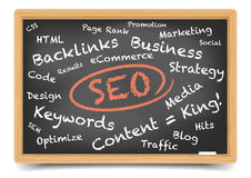 Blackboard SEO Royalty Free Stock Photo