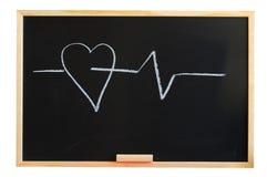 blackboard serce Zdjęcie Stock
