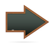 Blackboard in the shape of arrow Stock Image