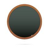 Blackboard in the shape of circle Stock Image