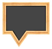Blackboard shaped as speech bubble Royalty Free Stock Photo