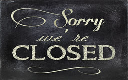 Blackboard sign CLOSED Royalty Free Stock Photography
