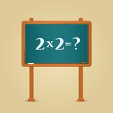 Blackboard with Simple Multiply and Equation Stock Image