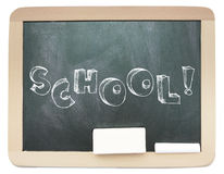 Blackboard with sketchy School word written Royalty Free Stock Photography