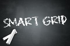 Blackboard Smart Grid. Blackboard with Smart Grid wording Royalty Free Stock Images