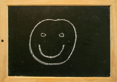 Blackboard smiley Royalty Free Stock Image