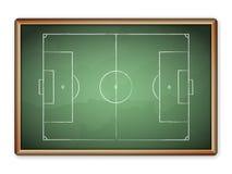 Blackboard soccer Stock Image
