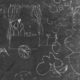 Blackboard in Southwark, London, UK. Blackboard with chalk doodles and illustrations that we found on the street in Southwark, London royalty free stock photos