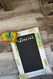 Blackboard for specials Royalty Free Stock Image