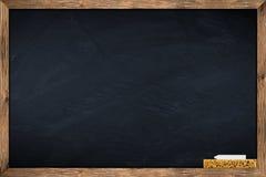 Blackboard with sponge and chalk Stock Image