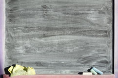 Blackboard in stains Stock Photography